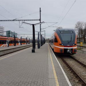 Поезд Elron на Балтийском вокзале. Автор фотографии: Виталий Фактулин.