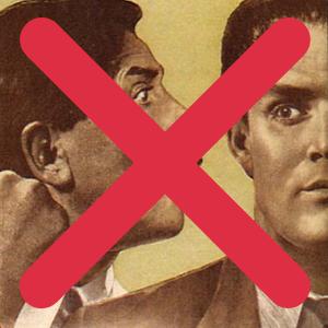 Фрагмент плаката времен СССР.