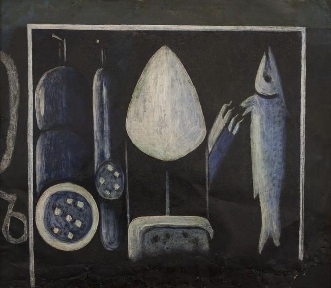 """Нико Пиросмани. """"Натюрморт с рыбой"""". Автор: материалы для прессы."""