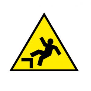 """Знак """"Осторожно. Возможно падение с высоты"""""""