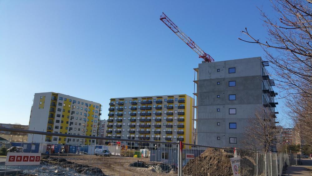 Вид стройплощадки на Юмера 28 в Ласнамяэ в марте 2019 года. Фото: Vitali Faktulin.