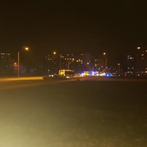 Улица Кярбери в ночное время. Иллюстративное фото.