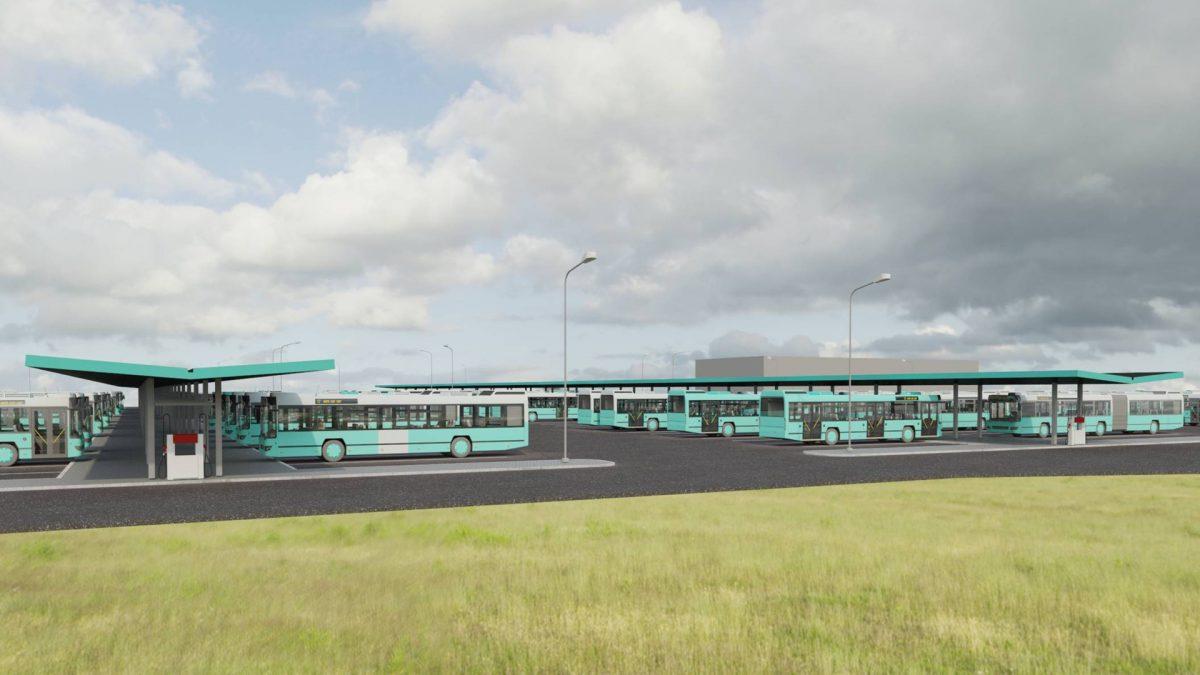 Эскизный проект газовой заправки в автобусном парке. Автор фото: TLT