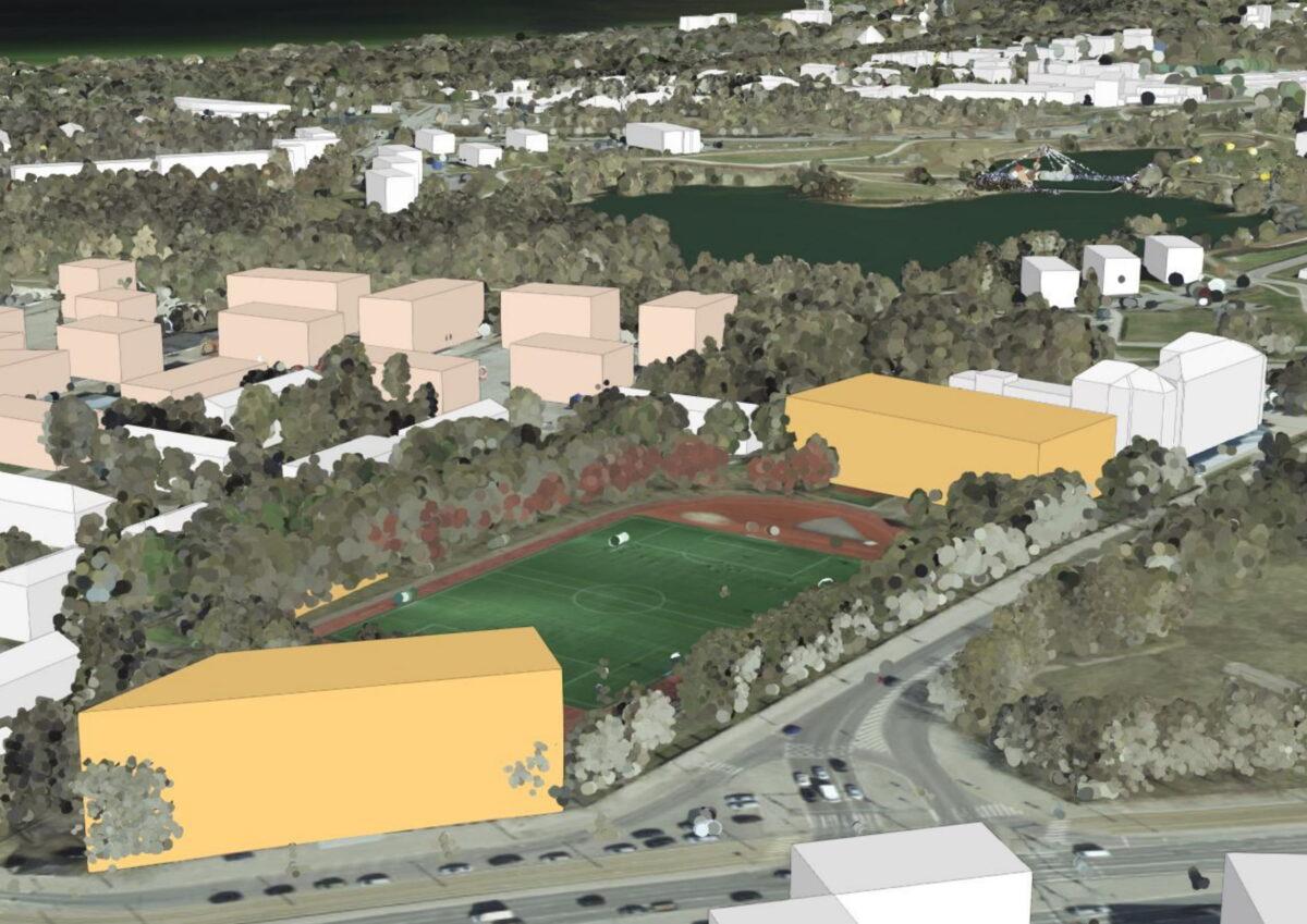 Так видится авторам территория спортивного комплекса после реконструкции. Источник фото: tpr.tallinn.ee.