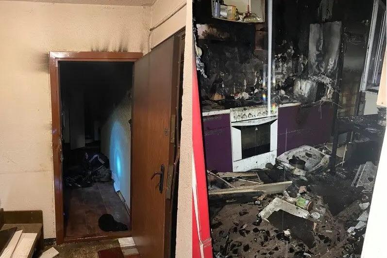 При пожаре погиб мужчина. Автор: Спасательный департамент Эстонии